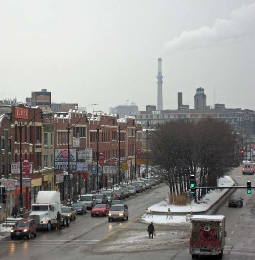 Beth Ulion/MEDILL  Coal-fired power plants such as the one overlooking Chinatown in Chicago are major contributors worldwide to global warming.