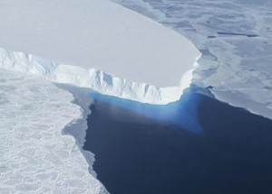 NASA Thwaites Glacier in West Antarctica. Ice is on the move and scientists are concerned about the potential collapse of the ice sheet.