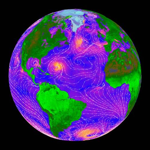 NASA Shifting wind currents could be forcing more carbon dioxide from the oceans into the atmosphere, upsetting the delicate give-and-take balance and pushing the warming Earth even closer to the edge.