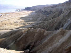 Courtesy of Adi Torfstein   Morianes, ridges of debris left by past glaciers, near the Dead Sea.