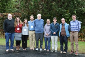 Denton poses with a group of current and former students from the University of Maine at the Comer Climate Conference in October.
