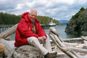 Courtesy of the Comer Science and Education Foundation   Gary Comer on the west coast of Vancouver Island, British Columbia, in 2002.