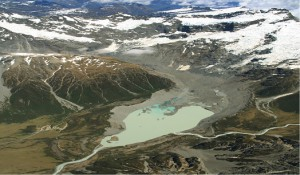 Courtesy of Aaron Putnam Glaciers in the Southern Hemisphere have not shown the same climate history as glaciers in the Northern Hemispere.