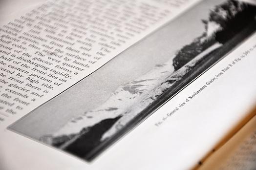 Chris Bentley/MEDILL An original copy of Ulysses S. Grant's 1913 United States Geological Survey bulletin surveying the coastal glaciers of southern Alaska.