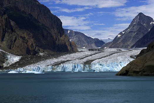 Photo by Gary Comer Water from melting glacier in Greenland.