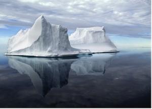 Greenland icebergs Source/credit:   Gary Comer