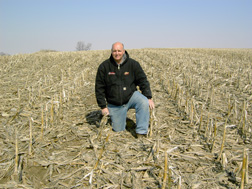 Van Bitner  Van Bitner in his corn field where the use of no-till practices cuts carbon emissions.