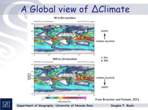 Courtesy of Doug Boyle Ancient shifts in the Earth's thermal equator caused massive changes in temperature and precipitation. Scientists are trying to find out if this could happen again today. Click on the image to enlarge it.
