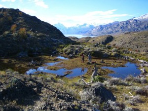 Courtesy of Jorge Strelin   Scientists study the effects of climate change as it turns glaciers into lakes over the years in places such as Southern Pategonia.