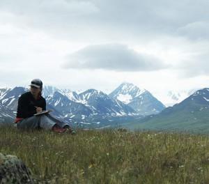 Mariah Radue keeping field notes. (Kevin Stark/MEDILL)